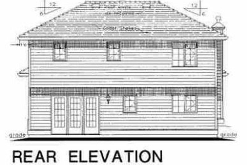 Traditional Exterior - Rear Elevation Plan #18-229 - Houseplans.com