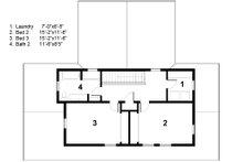 Energy efficient farmhouse - second floor plan