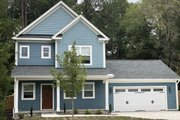 Craftsman Style House Plan - 3 Beds 3 Baths 1905 Sq/Ft Plan #20-2189 Exterior - Front Elevation