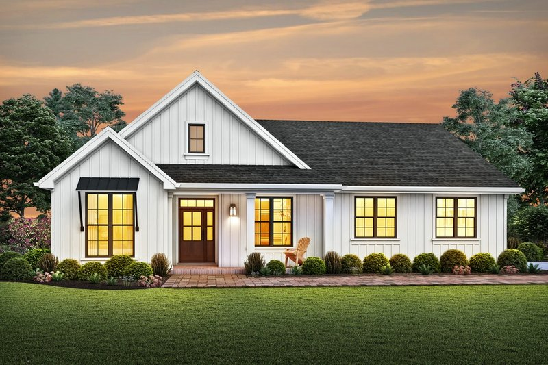 Dream House Plan - Farmhouse Exterior - Front Elevation Plan #48-985
