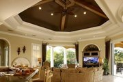 Mediterranean Style House Plan - 5 Beds 5.5 Baths 6780 Sq/Ft Plan #27-216 Interior - Family Room