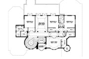 Mediterranean Style House Plan - 5 Beds 5.5 Baths 6045 Sq/Ft Plan #548-3 Floor Plan - Upper Floor Plan
