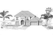 European Style House Plan - 5 Beds 4.5 Baths 4172 Sq/Ft Plan #411-327