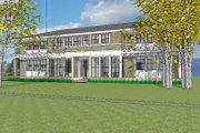 Prairie Style House Plan - 4 Beds 4 Baths 3725 Sq/Ft Plan #481-3 Exterior - Rear Elevation