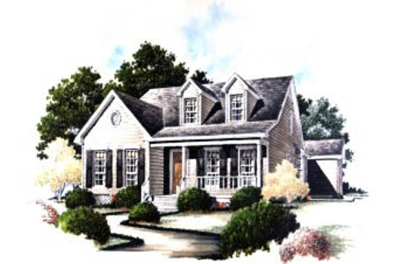 Architectural House Design - Country Exterior - Front Elevation Plan #37-163