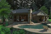 European Style House Plan - 3 Beds 3.5 Baths 3230 Sq/Ft Plan #120-185 Exterior - Rear Elevation