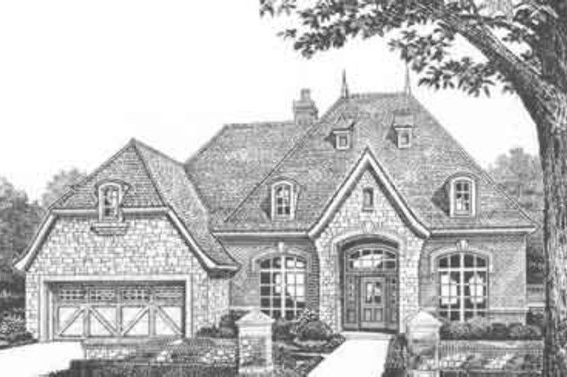 European Style House Plan - 2 Beds 2.5 Baths 2726 Sq/Ft Plan #310-381 Exterior - Front Elevation