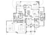 Adobe / Southwestern Style House Plan - 3 Beds 3.5 Baths 3546 Sq/Ft Plan #1069-22 Floor Plan - Main Floor Plan