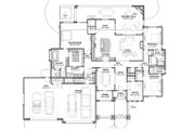 Adobe / Southwestern Style House Plan - 3 Beds 3.5 Baths 3546 Sq/Ft Plan #1069-22 Floor Plan - Main Floor