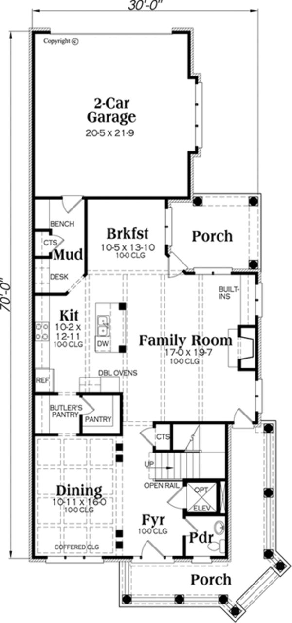 Dream House Plan - Traditional Floor Plan - Main Floor Plan #419-273