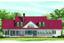 Architectural House Design - Farmhouse Exterior - Rear Elevation Plan #137-190
