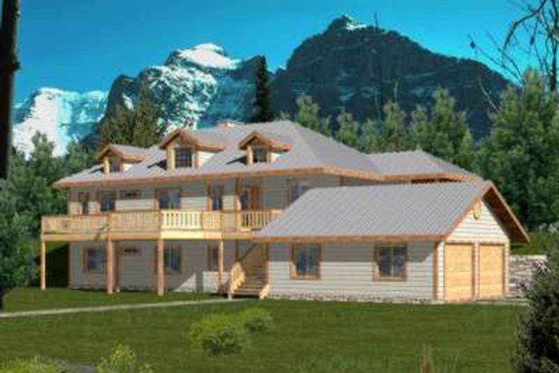 Architectural House Design - Traditional Exterior - Front Elevation Plan #117-391