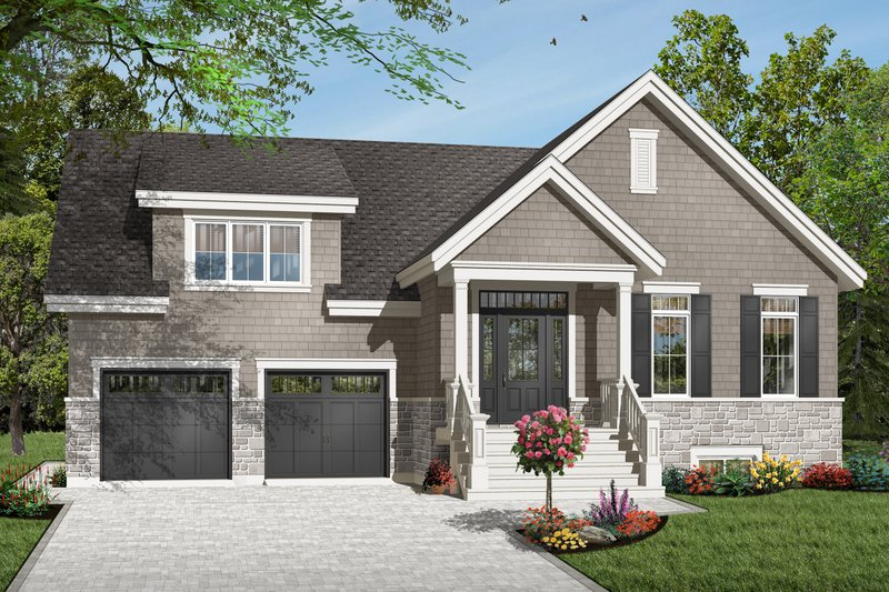 Traditional Style House Plan - 3 Beds 2 Baths 1664 Sq/Ft Plan #23-2446