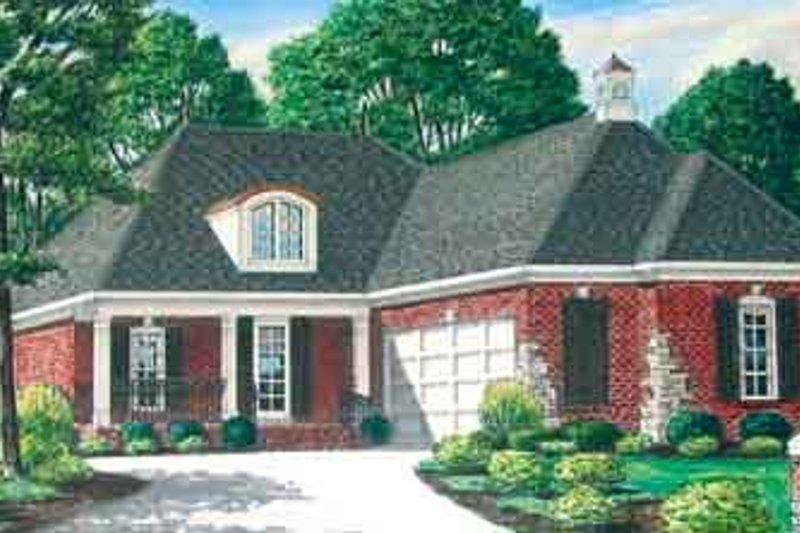 Dream House Plan - European Exterior - Front Elevation Plan #34-187
