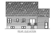 Cottage Style House Plan - 3 Beds 2.5 Baths 1565 Sq/Ft Plan #138-297 Exterior - Rear Elevation