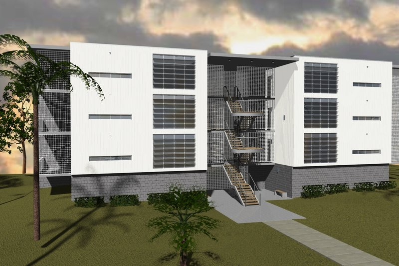 House Plan Design - Contemporary Exterior - Front Elevation Plan #535-14