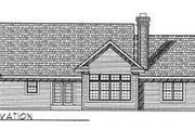 Traditional Style House Plan - 4 Beds 3 Baths 2378 Sq/Ft Plan #70-344 Exterior - Rear Elevation