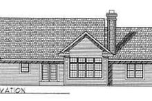 Dream House Plan - Traditional Exterior - Rear Elevation Plan #70-344