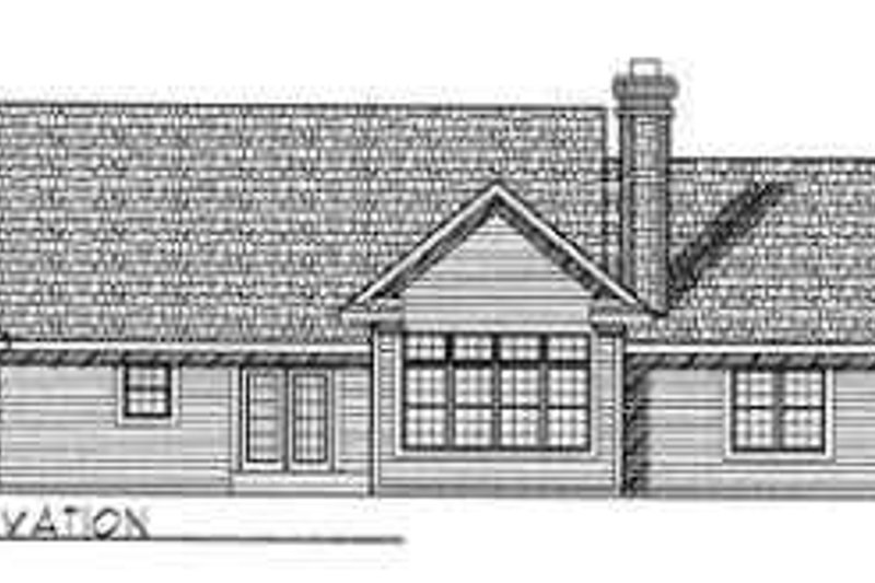 Traditional Exterior - Rear Elevation Plan #70-344 - Houseplans.com