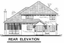 European Exterior - Rear Elevation Plan #18-247