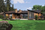 Modern Style House Plan - 3 Beds 3.5 Baths 3296 Sq/Ft Plan #48-544 Exterior - Rear Elevation