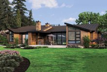 House Plan Design - Rear View - 3300 square foot Modern home