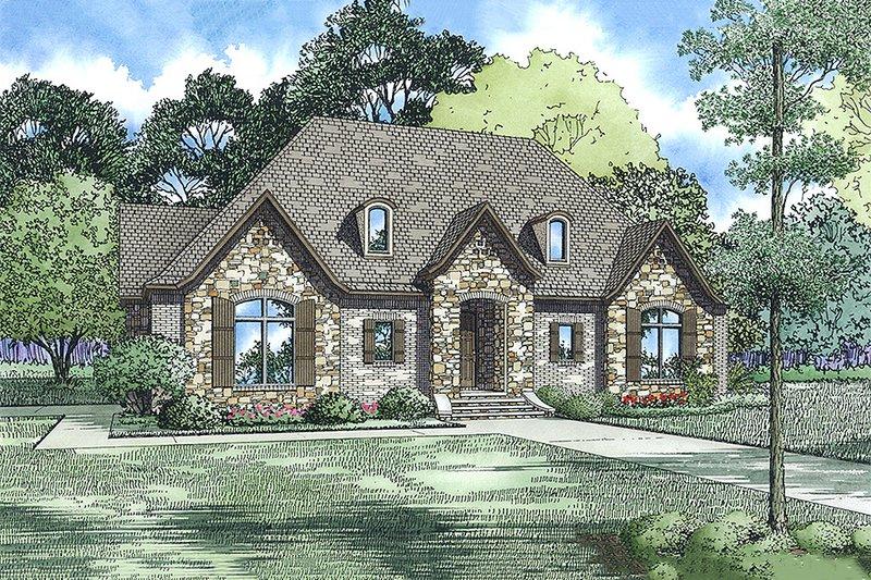 Dream House Plan - European Exterior - Front Elevation Plan #17-2548