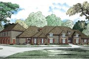 European Style House Plan - 5 Beds 5.5 Baths 7784 Sq/Ft Plan #17-2462 Exterior - Front Elevation
