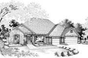 European Style House Plan - 4 Beds 3 Baths 2579 Sq/Ft Plan #310-109 Exterior - Front Elevation