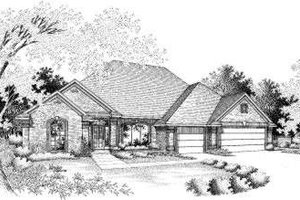European Exterior - Front Elevation Plan #310-109