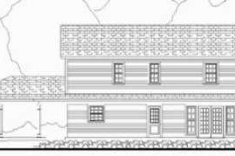 Farmhouse Exterior - Rear Elevation Plan #406-219 - Houseplans.com