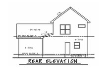 House Blueprint - Beach Exterior - Rear Elevation Plan #20-2426