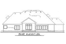 Dream House Plan - Country Exterior - Rear Elevation Plan #20-2192
