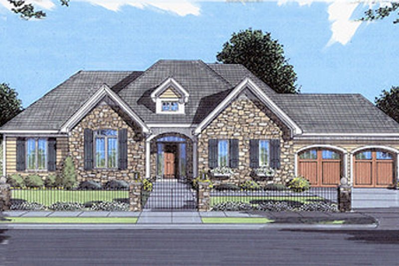 Traditional Exterior - Front Elevation Plan #46-140 - Houseplans.com