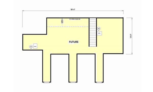 Country Floor Plan - Upper Floor Plan #44-182