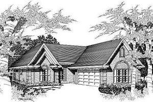 Cottage Exterior - Front Elevation Plan #329-203