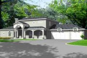 Traditional Style House Plan - 3 Beds 2.5 Baths 3014 Sq/Ft Plan #1-748 Exterior - Front Elevation