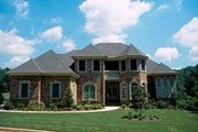European Style House Plan - 4 Beds 3.5 Baths 3094 Sq/Ft Plan #20-2043 Exterior - Front Elevation