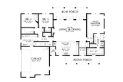 Contemporary Style House Plan - 3 Beds 2.5 Baths 2104 Sq/Ft Plan #48-1000 Floor Plan - Main Floor