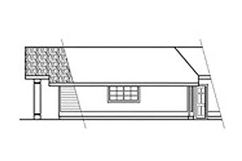 Ranch Exterior - Other Elevation Plan #124-120 - Houseplans.com