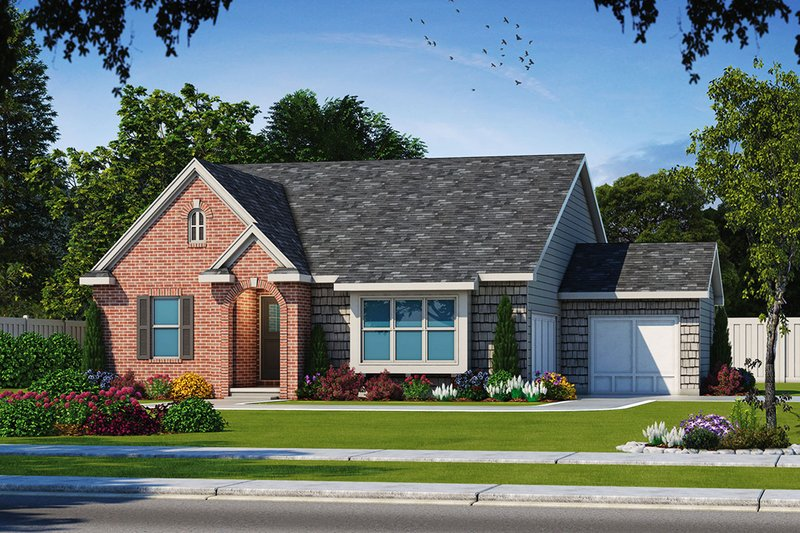 Dream House Plan - Ranch Exterior - Front Elevation Plan #20-2332
