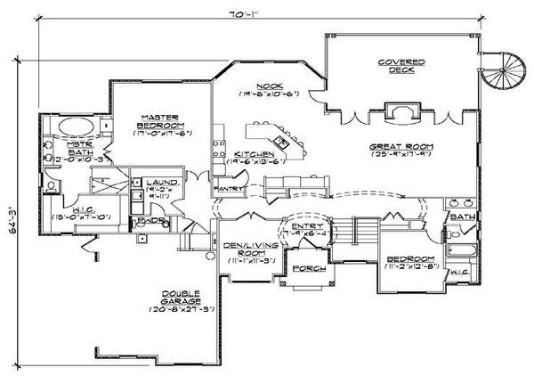 European Floor Plan - Main Floor Plan Plan #5-314