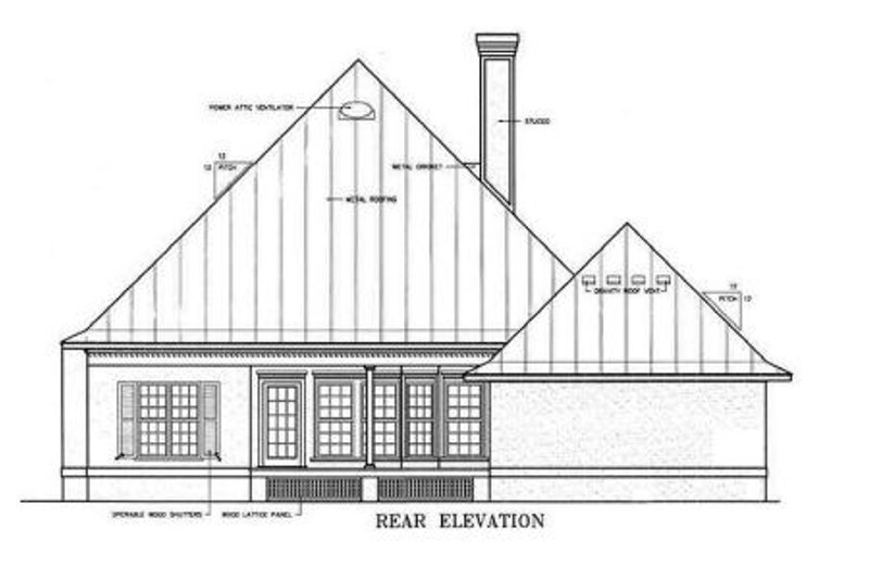 Country Exterior - Rear Elevation Plan #45-132 - Houseplans.com