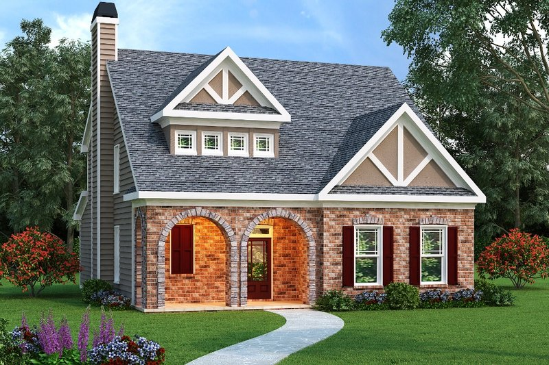 Tudor Exterior - Front Elevation Plan #419-116