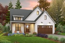 Home Plan - Farmhouse Exterior - Front Elevation Plan #48-1032