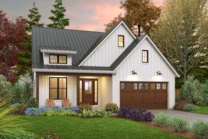 Farmhouse Exterior - Front Elevation Plan #48-1032