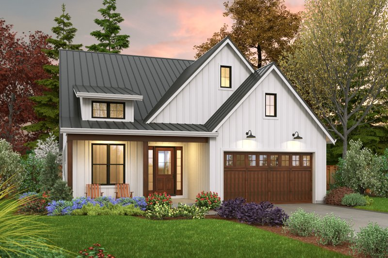 House Plan Design - Farmhouse Exterior - Front Elevation Plan #48-1032