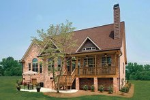 Home Plan - Ranch Exterior - Rear Elevation Plan #929-601