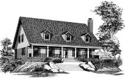 Country Style House Plan - 4 Beds 3 Baths 2756 Sq/Ft Plan #15-210 Exterior - Front Elevation