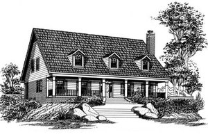 Country Exterior - Front Elevation Plan #15-210